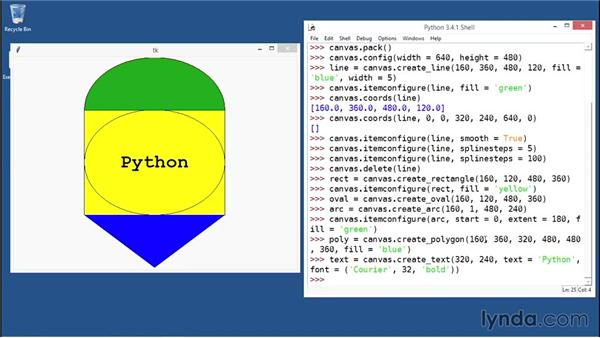 Drawing complex shapes on the Canvas: Python GUI Development with Tkinter