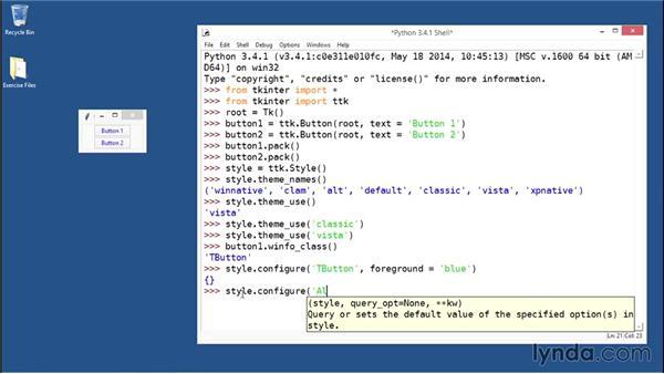 Configuring widget styles: Python GUI Development with Tkinter