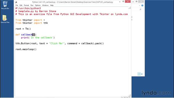 Configuring command callbacks: Python GUI Development with Tkinter