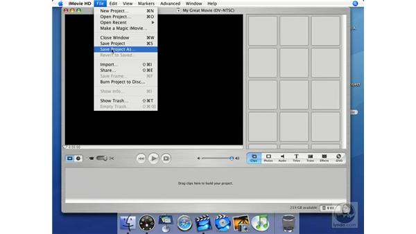 Organizing tips: iMovie HD + iDVD 5 Essential Training