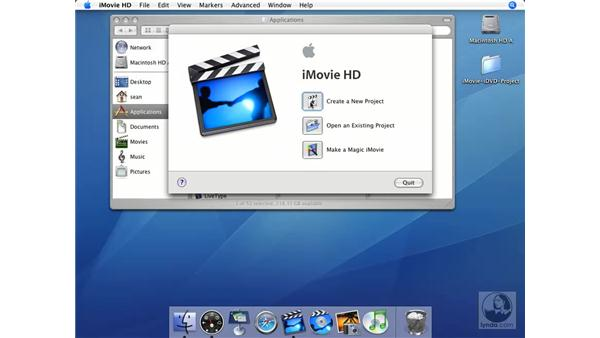 Importing to the clip viewer: iMovie HD + iDVD 5 Essential Training