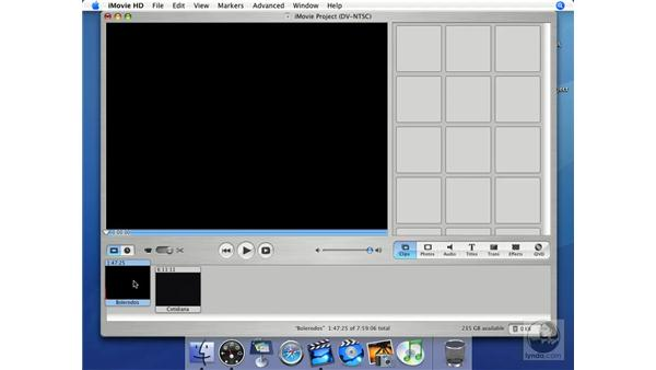 Clip view: iMovie HD + iDVD 5 Essential Training