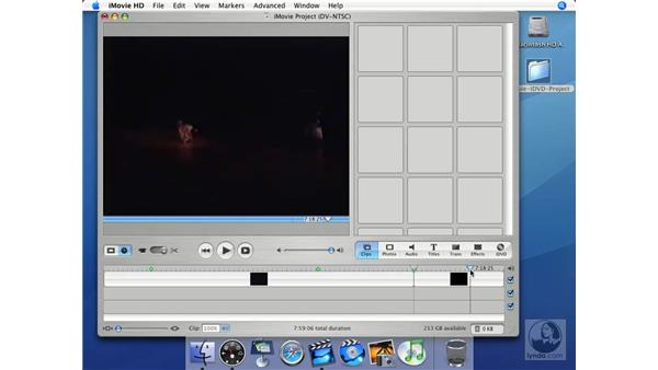 Working with bookmarks: iMovie HD + iDVD 5 Essential Training