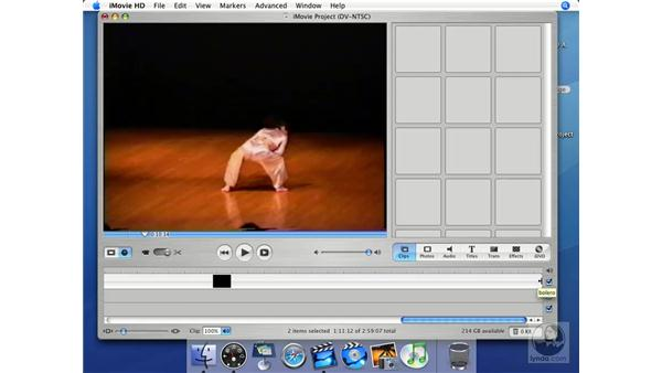 Cutting and deleting: iMovie HD + iDVD 5 Essential Training