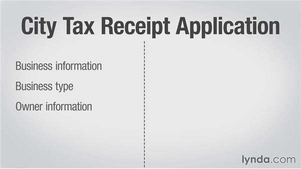 Applying for a city business tax receipt: Running a Web Design Business: Defining Your Business Structure