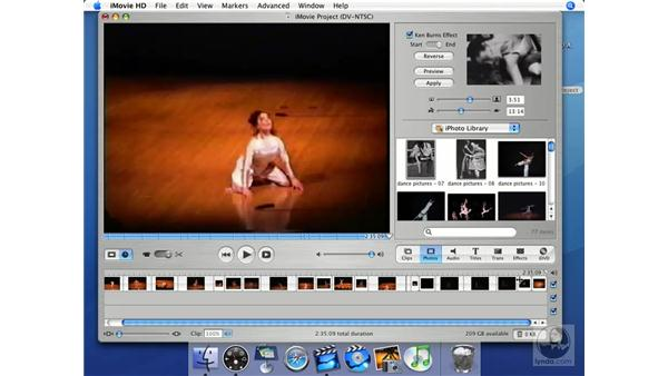 How to create a still-frame clip: iMovie HD + iDVD 5 Essential Training