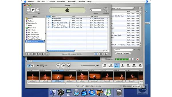iTunes with iMovie and iDVD: iMovie HD + iDVD 5 Essential Training