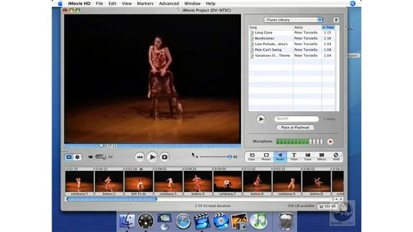 Finding the right music: iMovie HD + iDVD 5 Essential Training