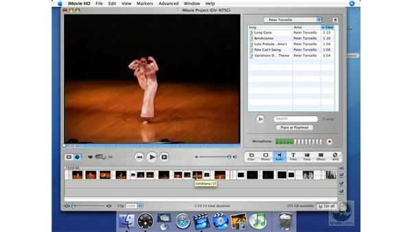 Places to put audio: iMovie HD + iDVD 5 Essential Training