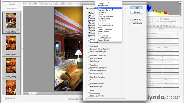 Synchronizing settings across multiple files: Enhancing Night and Low-Light Photos with Photoshop