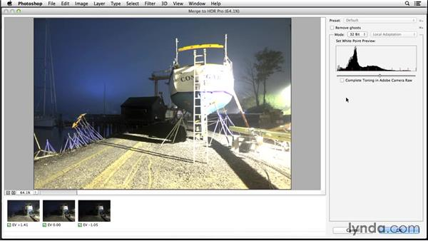Working with 32-bit files in Lightroom: Enhancing Night and Low-Light Photos with Photoshop