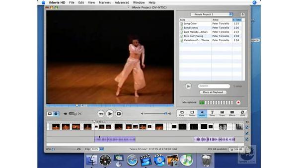 Recording sound in iMovie: iMovie HD + iDVD 5 Essential Training