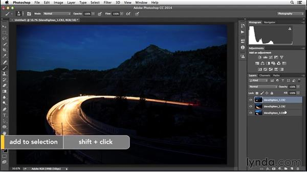 Layer stacking to blend lighter areas: Enhancing Night and Low-Light Photos with Photoshop