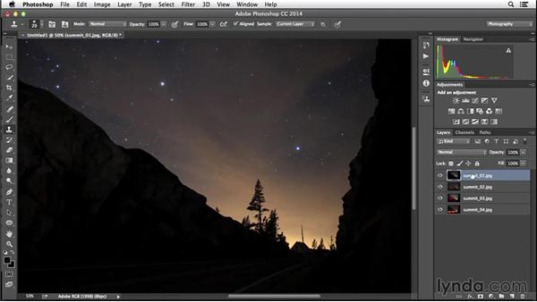 Aligning misaligned layers: Enhancing Night and Low-Light Photos with Photoshop