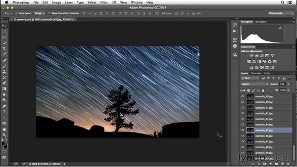 Creating a star-comet effect: Enhancing Night and Low-Light Photos with Photoshop