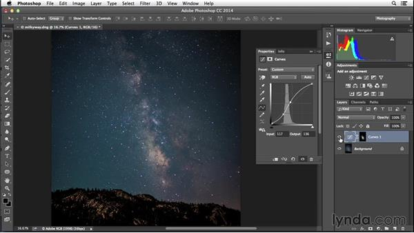 Using luminosity masks to enhance the Milky Way: Enhancing Night and Low-Light Photos with Photoshop