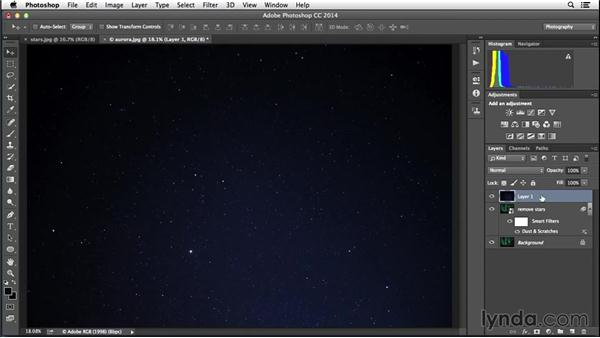 Replacing blurry stars: Enhancing Night and Low-Light Photos with Photoshop