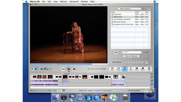 Extracting audio: iMovie HD + iDVD 5 Essential Training