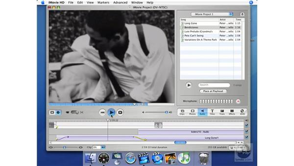 Editing sound: iMovie HD + iDVD 5 Essential Training