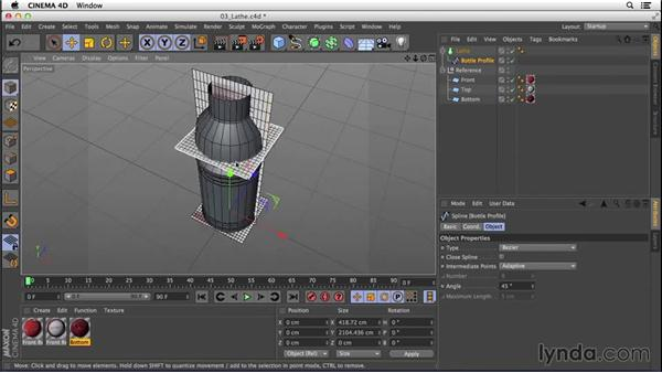Converting the lathe into a low-polygon model: Digital Product Photography with CINEMA 4D
