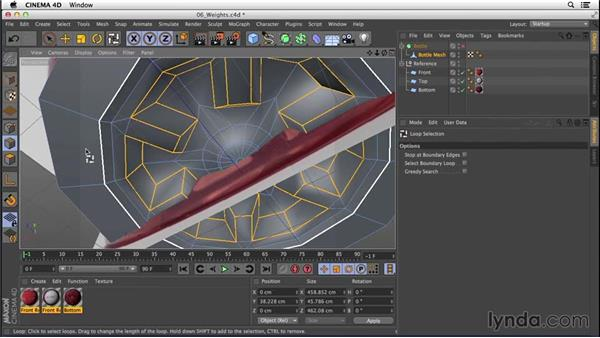 Adjusting edge weights: Digital Product Photography with CINEMA 4D