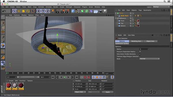 Unhiding and tweaking the bottom: Digital Product Photography with CINEMA 4D