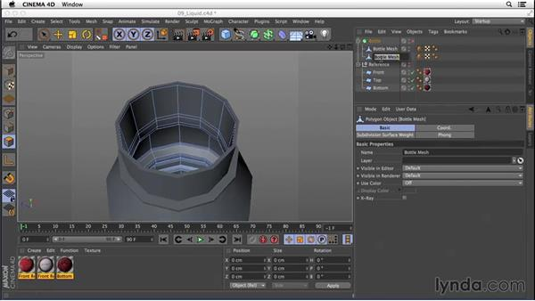 Modeling the liquid: Digital Product Photography with CINEMA 4D