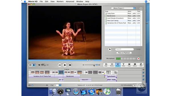Creating narration tracks in the field: iMovie HD + iDVD 5 Essential Training