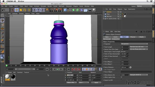 Laying out our shot: Digital Product Photography with CINEMA 4D