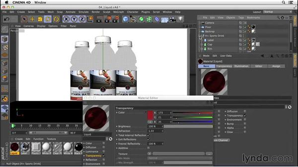 Creating a colorful liquid material: Digital Product Photography with CINEMA 4D