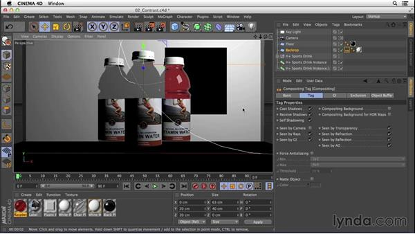 Tweaking settings for high-contrast lighting: Digital Product Photography with CINEMA 4D