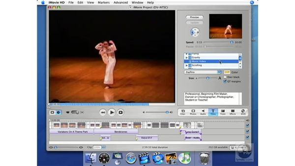 What makes a font work in video?: iMovie HD + iDVD 5 Essential Training