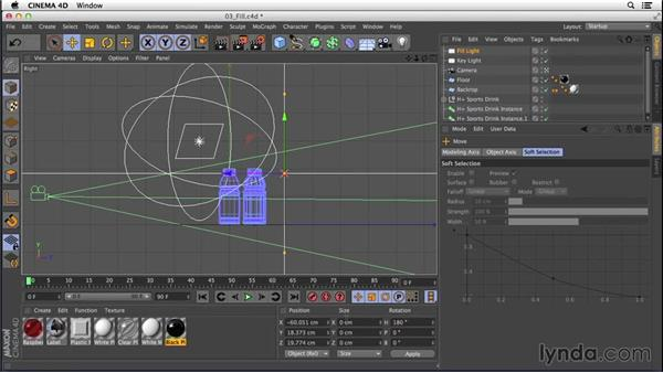 Adding fill lights to enhance reflections: Digital Product Photography with CINEMA 4D