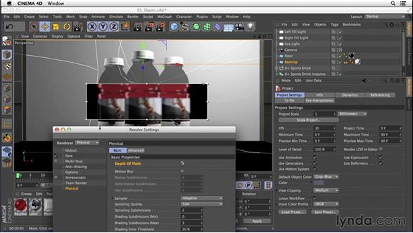 Adding depth of field with the Physical Renderer: Digital Product Photography with CINEMA 4D