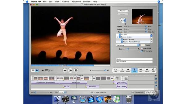 Controlling animation: iMovie HD + iDVD 5 Essential Training