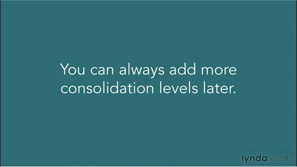 Adding consolidation levels: Financial Analysis: Analyzing the Top Line with Excel