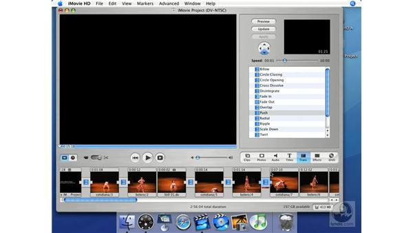 Appropriate transitions: iMovie HD + iDVD 5 Essential Training