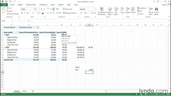 Performing a price/mix analysis: Financial Analysis: Analyzing the Bottom Line with Excel