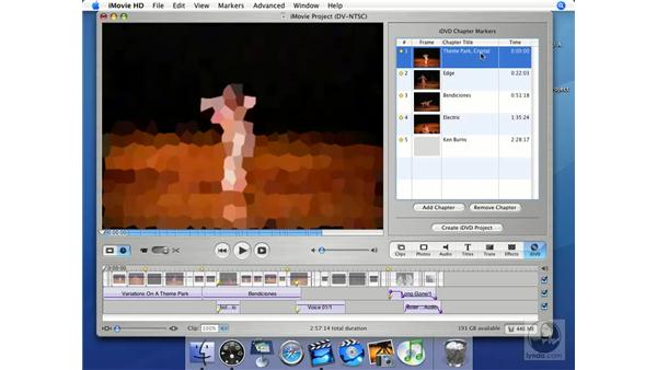 How the chapter markers translate: iMovie HD + iDVD 5 Essential Training
