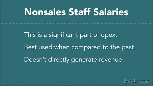 Analyzing nonsales staff expenditures: Financial Analysis: Analyzing the Bottom Line with Excel