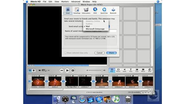 Email: iMovie HD + iDVD 5 Essential Training
