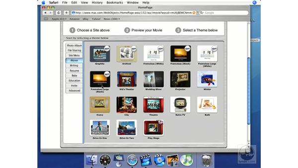 Homepages: iMovie HD + iDVD 5 Essential Training