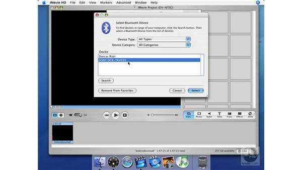 Bluetooth: iMovie HD + iDVD 5 Essential Training