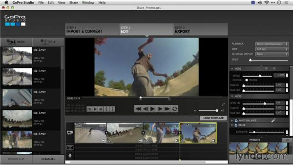 Using GoPro Studio with third-party applications: Preparing GoPro Footage for Editing