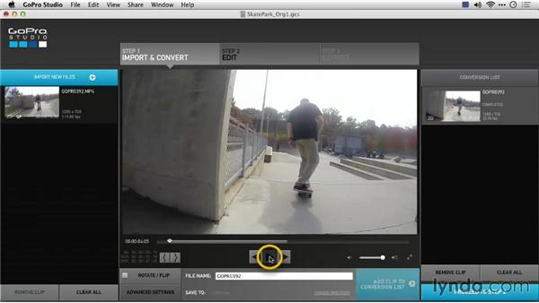 Changing frame rate: Preparing GoPro Footage for Editing