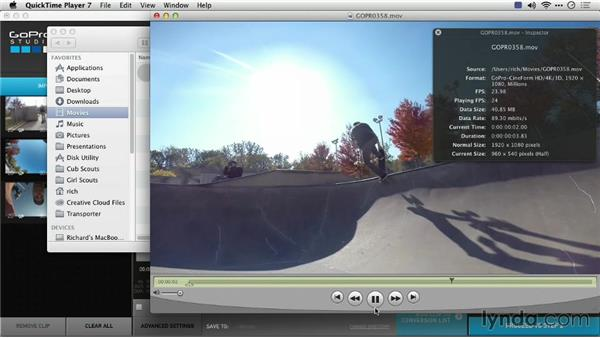 Changing clip speed: Preparing GoPro Footage for Editing