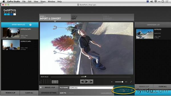 Removing fish-eye or wide-angle distortion: Preparing GoPro Footage for Editing