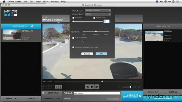 Setting conversion quality: Preparing GoPro Footage for Editing