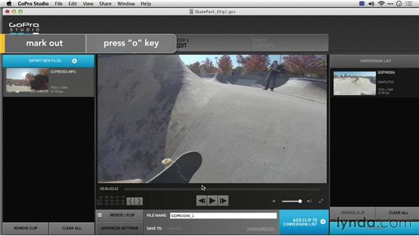 Setting the target drive: Preparing GoPro Footage for Editing