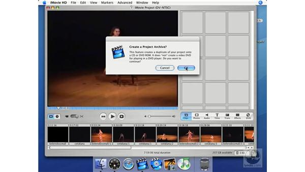 How to archive a project: iMovie HD + iDVD 5 Essential Training